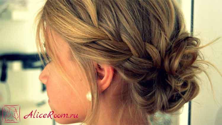 две косички на коротких волосах