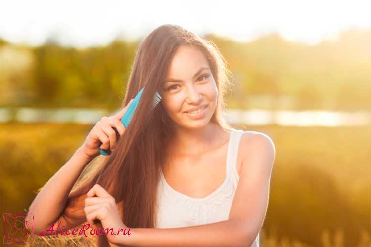 выпадение волос при расчесывании фото