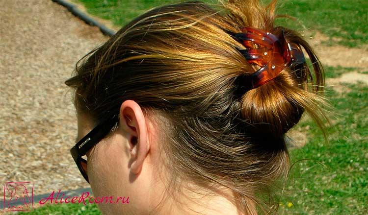 Быстрая прическа для волос средней длинны