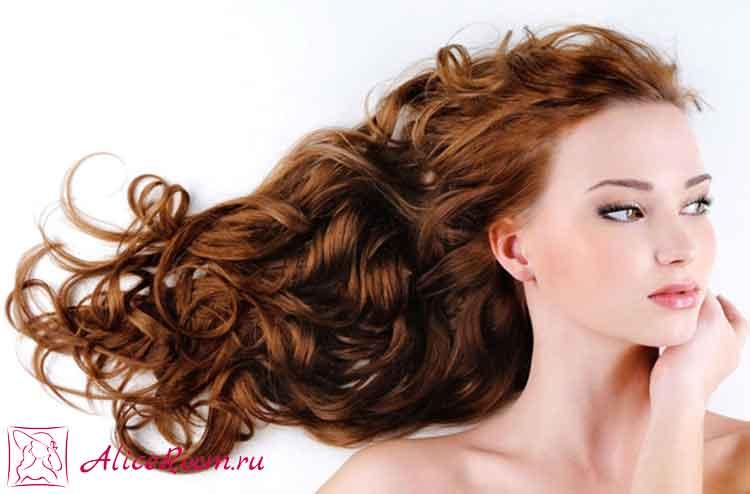 укладка волос с химией